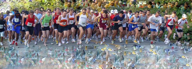 Start of 2008 DDC 15K Road Race in Wilmington, Delaware