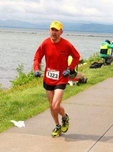 Finish of Vermont City Marathon 2013