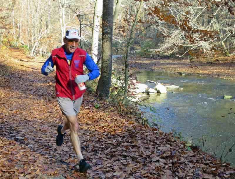 Ray runs at White Clay  in November 2015