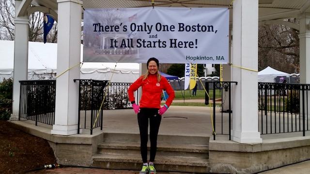 Theresa runs Boston Marathon