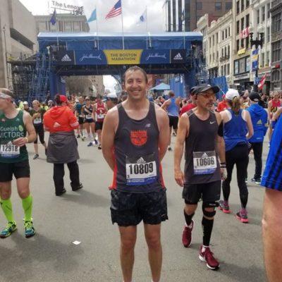 Adam at Boston Marathon