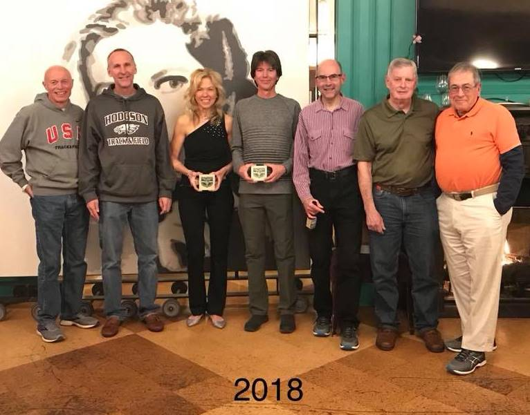 Hall of Fame members at March, 2018 Awards Social